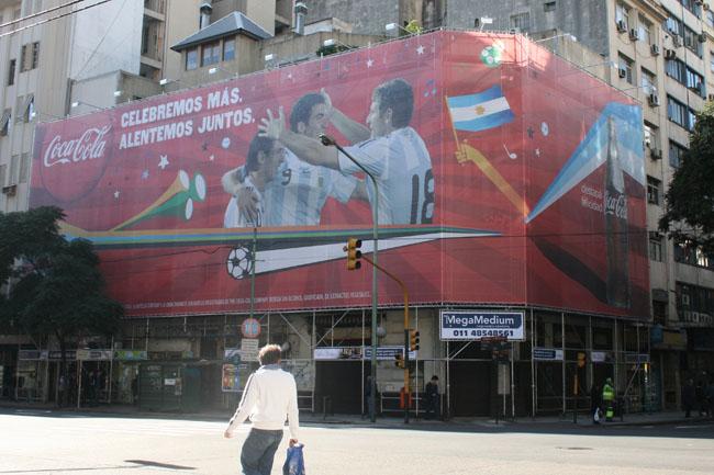 Estructura Publicidad en Fachadas - Callao y Viamonte CABA